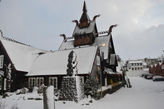 Viking Village Hotel: Exterior view of dining hall