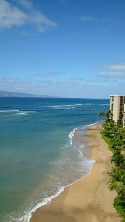 Kahana Beach Resort: View from my room on the 11th floor