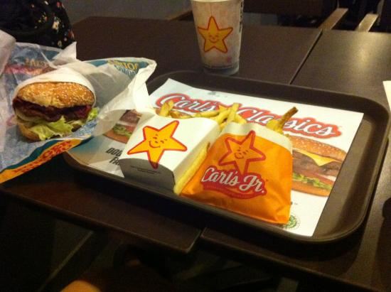 Carl's Jr: food menu