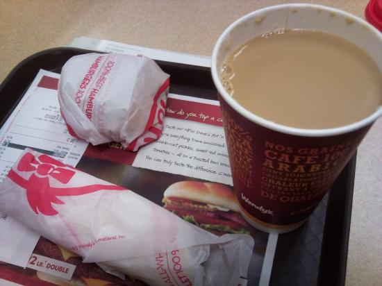 Wendy's: Coffee was not bad, actually :-)