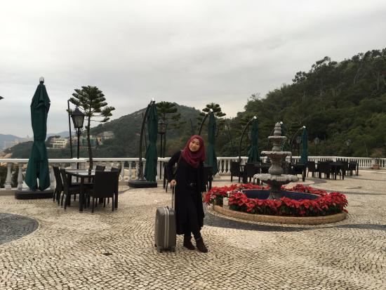 Pousada de Coloane Beach Hotel & Restaurant: The terrace at the cafe