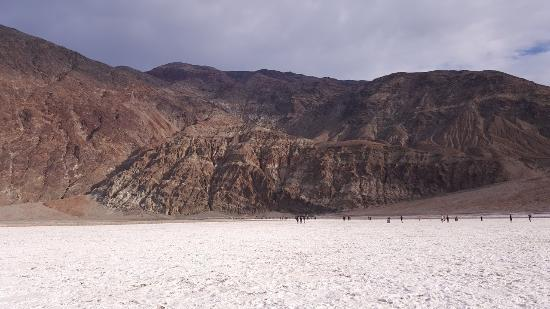 Badwater: Looking back at the parking lot area