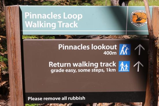 Ben Boyd National Park, Australië: Pinnacles Info sign