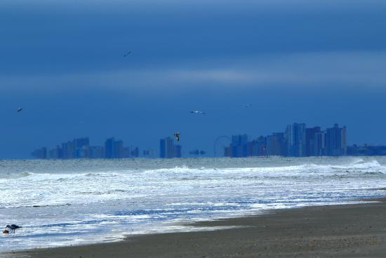 Beach Cove Resort: Looking south towards the town of Myrtle Beach.