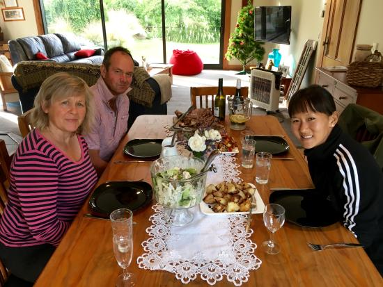 dinner with pam graham picture of hunter farm home stay rh tripadvisor co nz