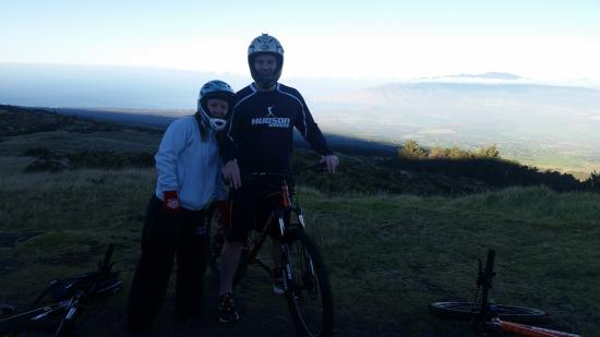Sunrise On Top Of Mountain Picture Of Haleakala Bike