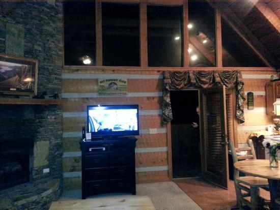 Timberwinds Log Cabins: Living room