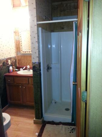 Timberwinds Log Cabins: Bathroom