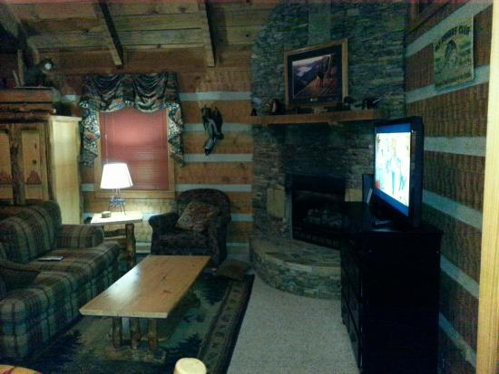 Timberwinds Log Cabins: Living room