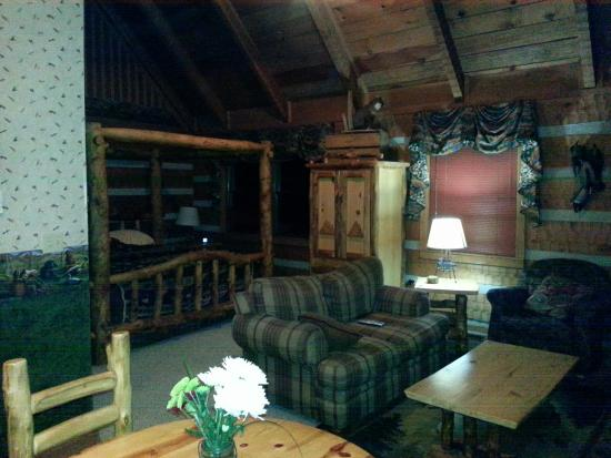 Timberwinds Log Cabins: Photo from back door