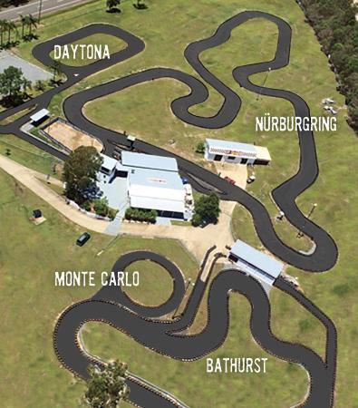 Pimpama, Australia: Aerial View Slideways - Go Karting World