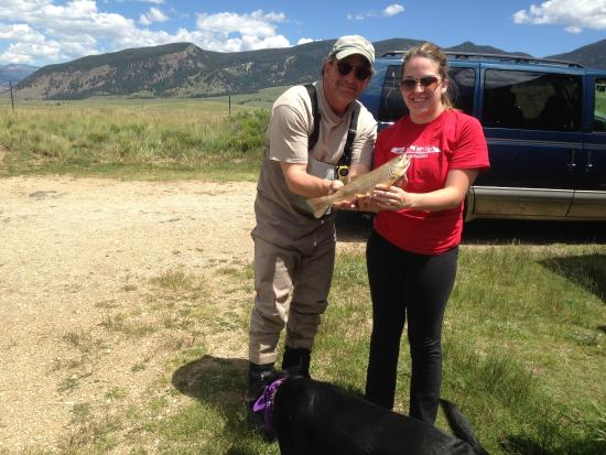 Creede, CO: My Daught and I enjoying the Ranch