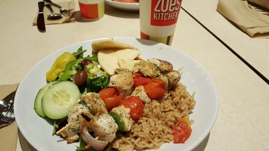 Zo S Kitchen Mediterranean Chicken Endearing Chicken Kabobs  Picture Of Zoes Kitchen Williamsburg  Tripadvisor Review