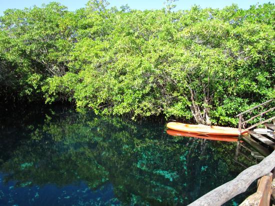 Bel Air Collection Xpu Ha Riviera Maya: The Lagoon with kayaks