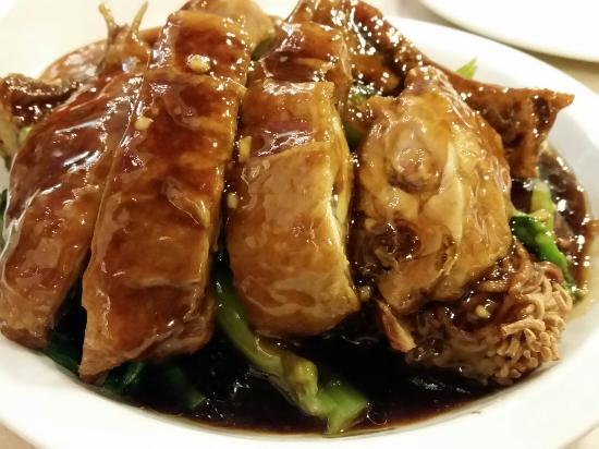 Beef Chow Fun Dry Oyster Sauce chicken over cake noodles