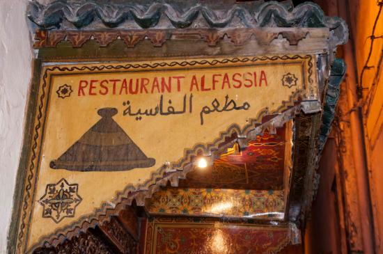 Restaurant al Fassia: Entry sign