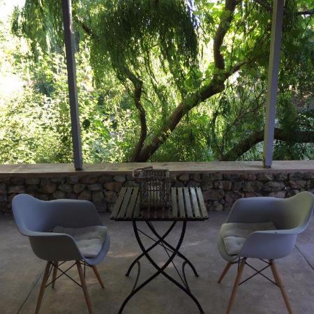 La Chataigne: Porch by River