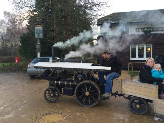 Beaulieu, UK: Some old transport returning