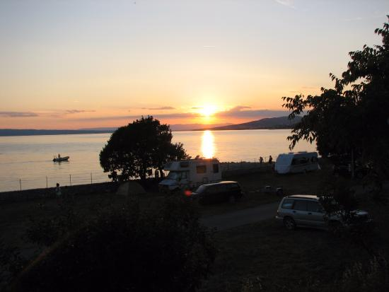 Klenovica, โครเอเชีย: Západ slunce