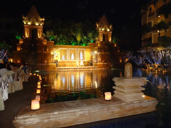 Sokha Angkor Resort: Gala Dinner 特設ステージ