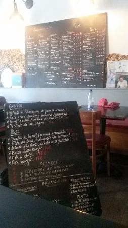 Menu Picture Of La Boite Aux Lettres Paris Tripadvisor