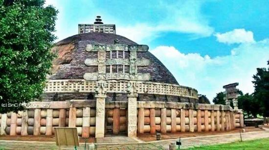 Buddhist Monuments at Sanchi : Sanchi Stupa