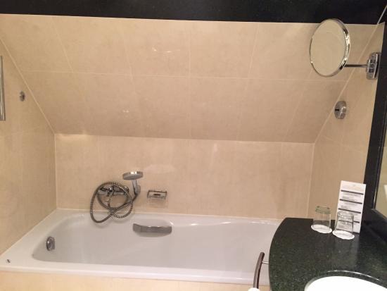 Oud Huis de Peellaert: Teto do banheiro extremamente baixo, razão pela qual fui obrigado a tomar banho de joelho