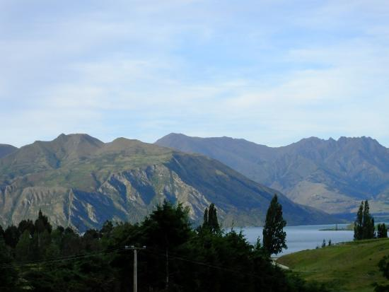 Wanaka Top 10 Holiday Park: View from Wanaka campsite