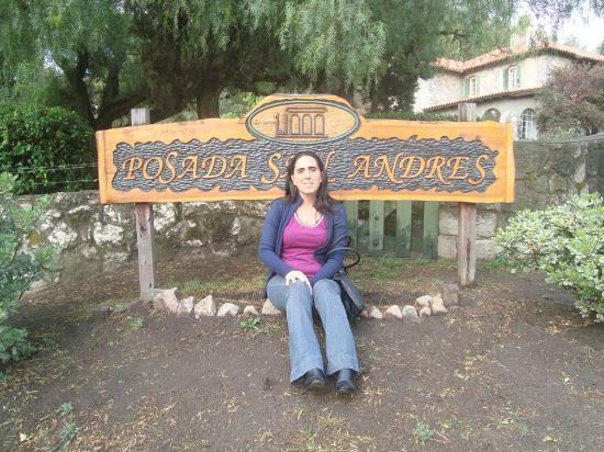 Posada San Andres : yo en el cartel