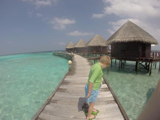 Thulhagiri Island Resort: On the path to the water villas