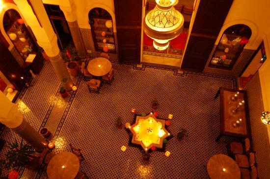 Riad Dar Tafilalet: the atrium