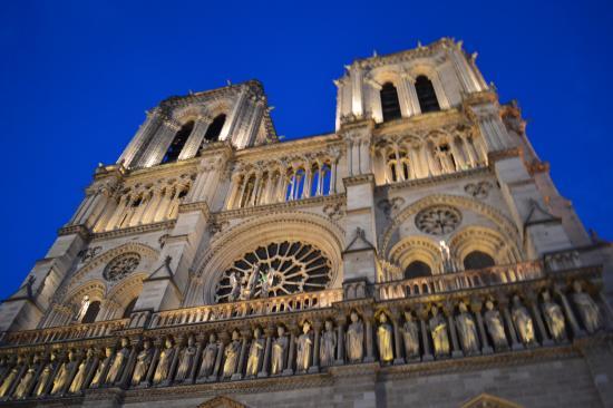 Dark Paris: Notre Dame at Night