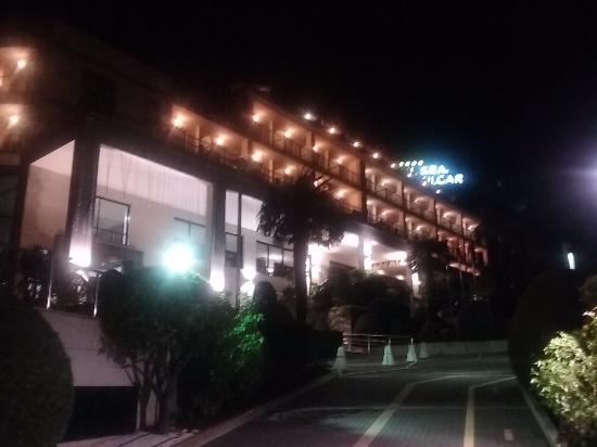 Hotel Carlos I Silgar: vista nocturna del hotel