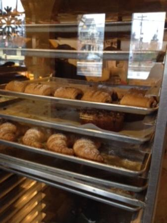 Arlington, MA : Trays of fresh baked treats