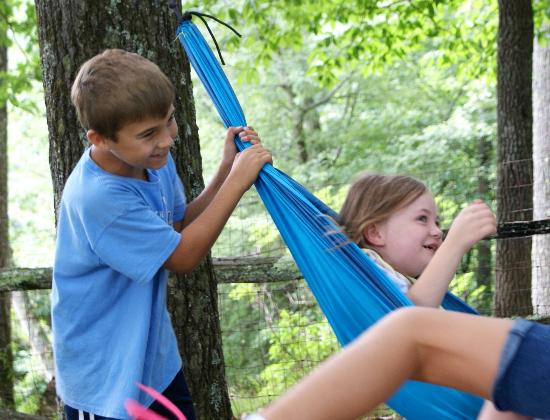 Lake Toxaway, Kuzey Carolina: Kids on the hammock