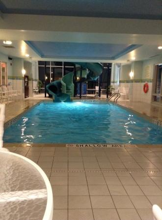 Great Pool And Water Slide Picture Of Hampton Inn Suites By Hilton Moncton Moncton Tripadvisor