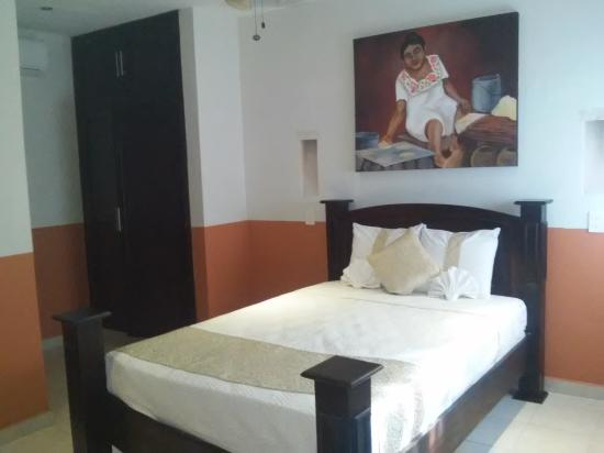 Foto de Real Las Haciendas, Valladolid: Habitacion muy comoda. Solo ...
