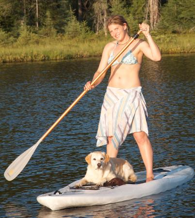 Eagle River, WI: Stand up paddle board with a friend.