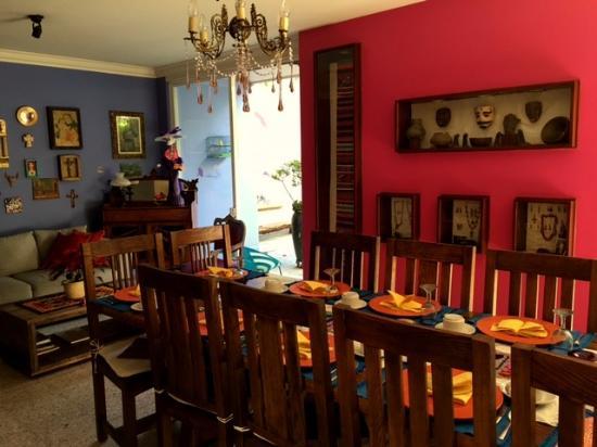 Casa del Las Bugambilias B&B: Dining room at Casa de las Bugambilias