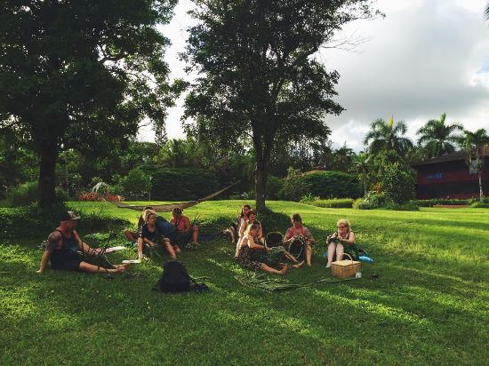 Kalani: Hawaiian culture classes taking place on the lawn