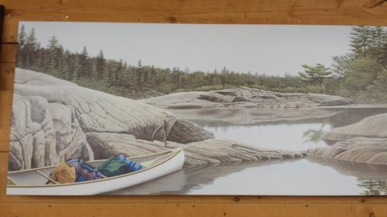 French River Trading Post: Local artist paintings