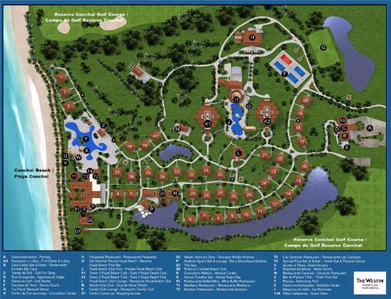The Westin Golf Resort & Spa, Playa Conchal: Resort Map (Dec 2015)