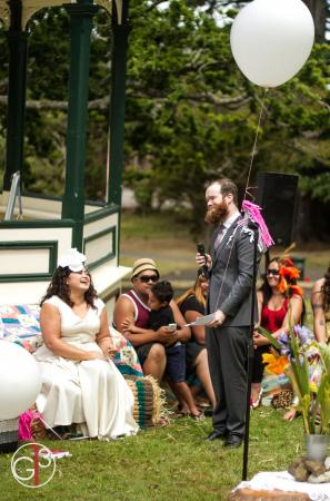 My partner and i getting married in the Te Aroha Domain