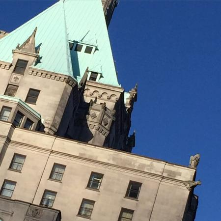 Fairmont Hotel Vancouver: The rooftop architecture.