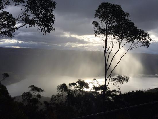 Camden, Australia: God's eye cloud formation