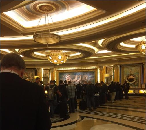 Line At Front Desk 1 00 A M Jan 6 2017 Picture Of Caesars