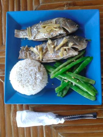 Talibon, Φιλιππίνες: Lemongrass stuffed fish with ginger