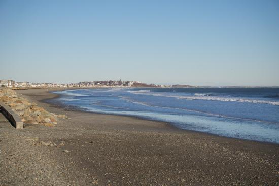 Hull, MA: Beach across from resort
