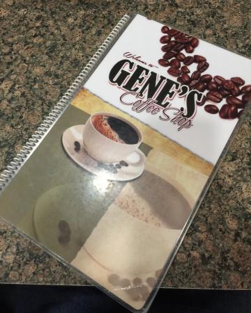 Gene's Coffee Shop: menu