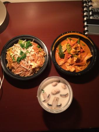 Clockwise From The Left Pad Thai Panang Curry And Tom Kha